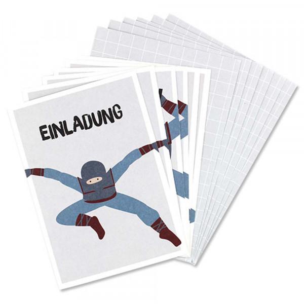 Ava & Yves Einladungskarten Kindergeburtstag Ninjas