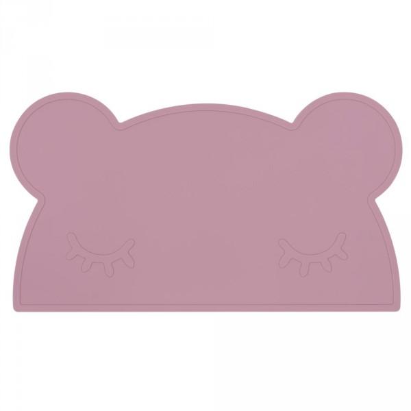 We Might Be Tiny Kinder Tischset Silikon Bär dunkelrosa