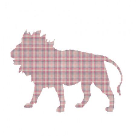 Inke Tapetentier Löwe Karo rot