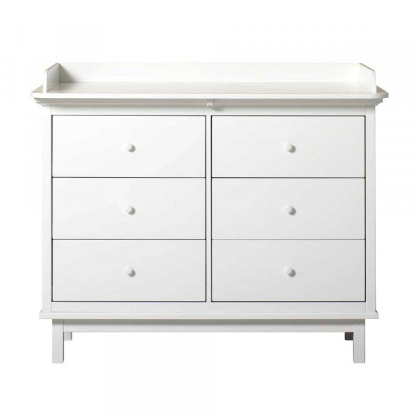 Oliver Furniture Seaside Wickelkommode 6 Schubladen weiss