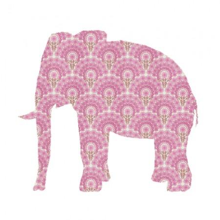 Inke Tapetentier Elefant rosa