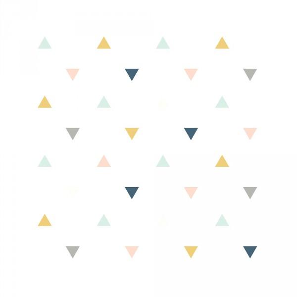 Lilipinso Vlies Tapete Dreiecke ocker rosa mint grau