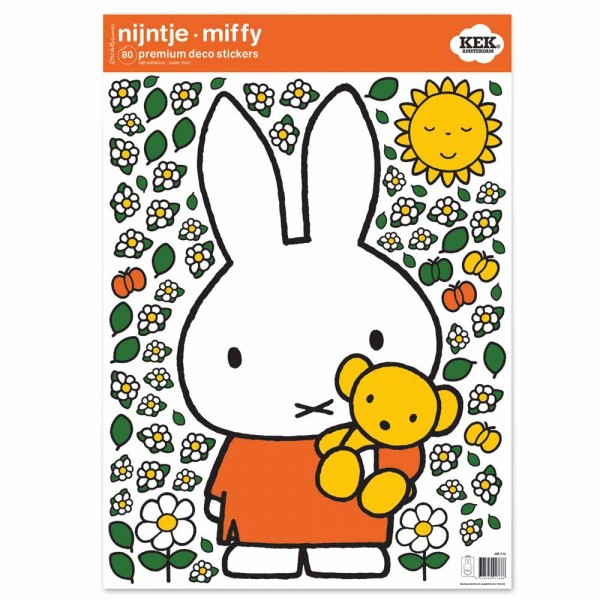 Kek Amsterdam Sticker groß Miffy & Teddybär