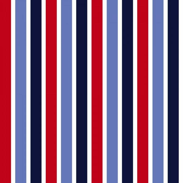 Rasch Textil Everybody Bonjour Tapete Streifen blau rot