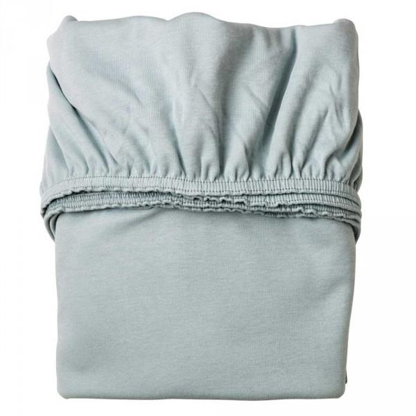 Leander Laken für Babybett rauchblau