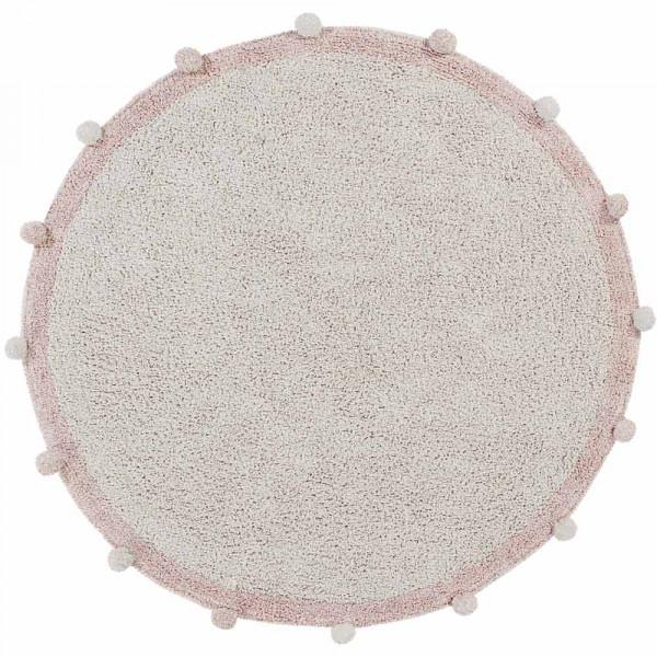 Lorena Canals Teppich rund Baumwolle Bubbly vintage rosa