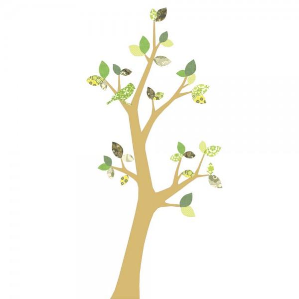 Inke Tapetenbaum 3 Stamm gold Blätter grün