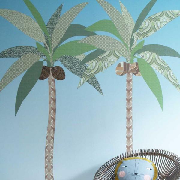 Inke Wandbild Palmen grün