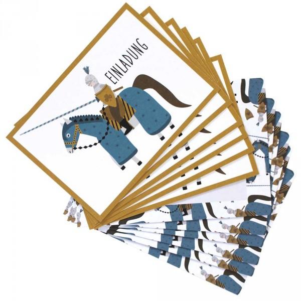 Ava & Yves Einladungskarten Kindergeburtstag Ritter