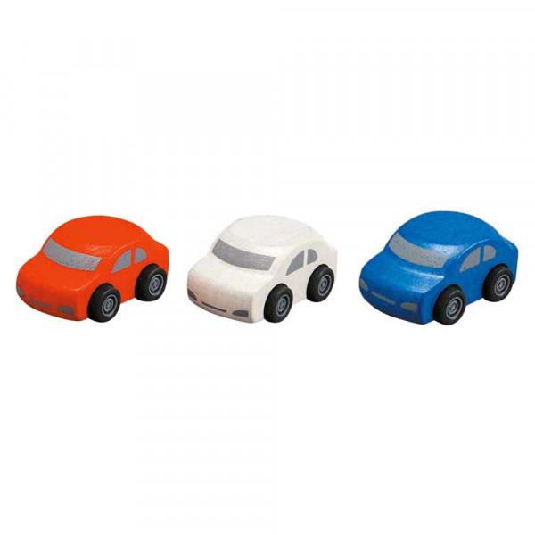 Plan Toys Spielzeug Familienauto-Set Holz