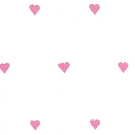 Harlequin Tapete Herzen rosa
