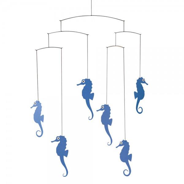 Flensted Mobile Seepferdchen blau