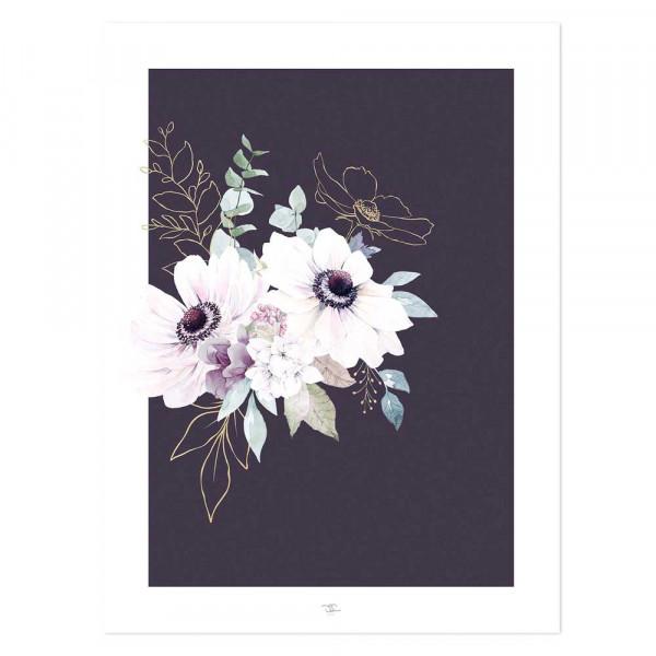 Lilipinso Poster Anemonen lila flieder