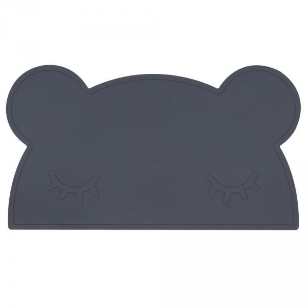We Might Be Tiny Kinder Tischset Silikon Bär dunkelgrau