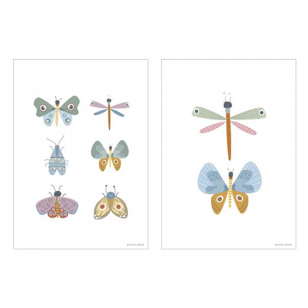 """Little Dutch Poster Schmetterlinge & Co """"Spring Flowers"""" zweiseitig"""