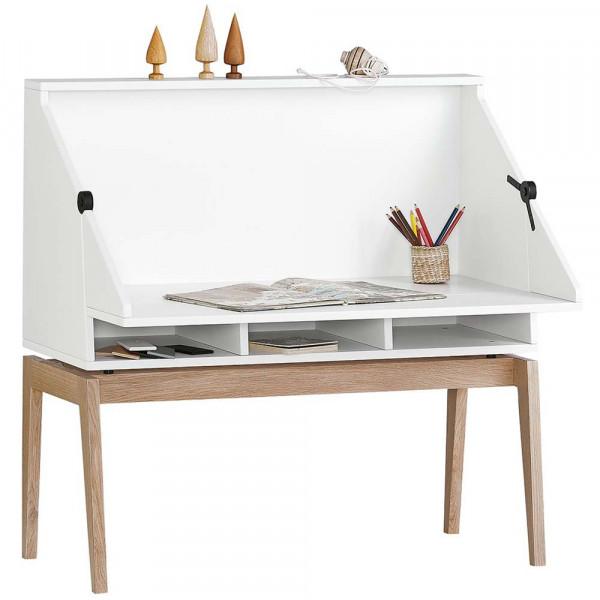 Leander Schreibtisch Luna weiß / Eiche