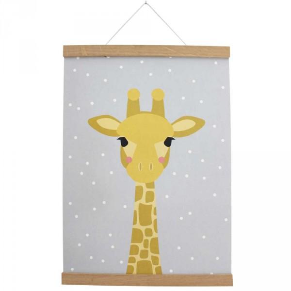 Ava & Yves Kinderposter Baby Giraffe