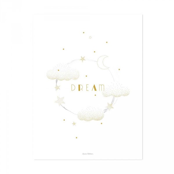 Lilipinso Poster Wolken DREAM gold