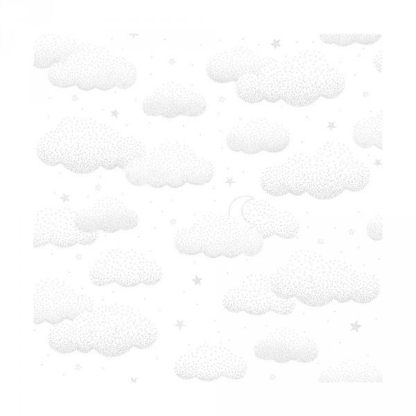 Lilipinso Vlies Tapete Wolken grau