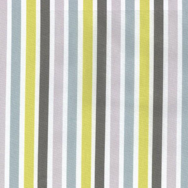 Casadeco Streifenstoff grau lime Jules & Julie