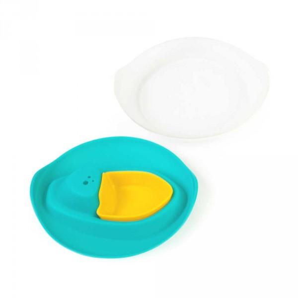 Quut Spielzeug-Sandform-Badeboot SLOOPI türkis gelb