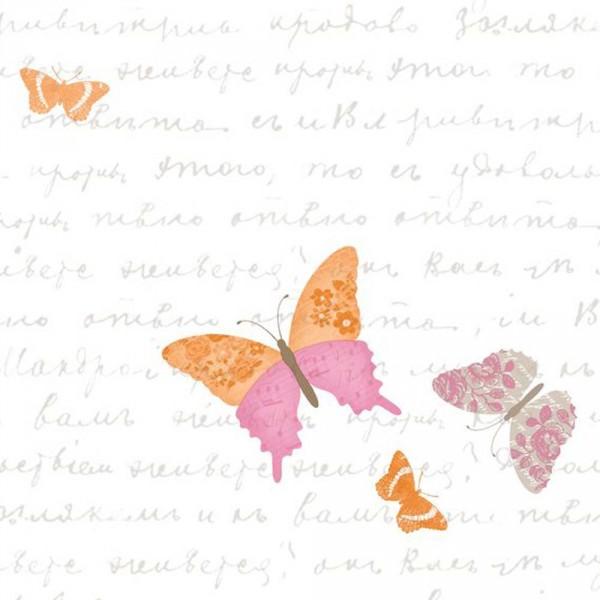 Caselio Pretty Lili Tapete Schmetterlinge orange pink