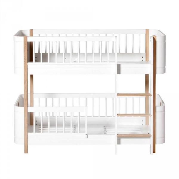 Oliver Furniture Wood Mini+ Umbauset 2 Juniorbetten zu halbhohem Etagenbett Eiche