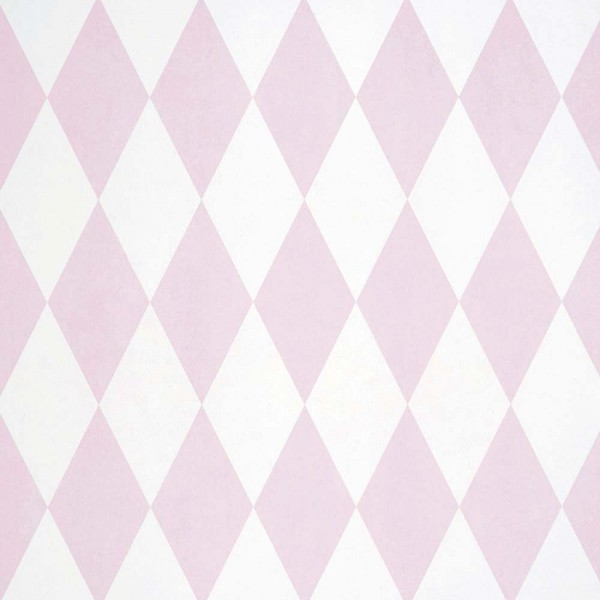 Casadeco Alice & Paul Stoff Harlequin Rauten rosa