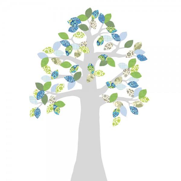 Inke Tapetenbaum silber grün/blau