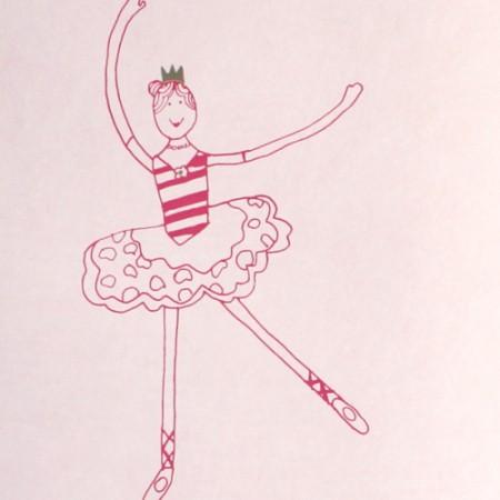 Harlequin Tapete Ballett rosa