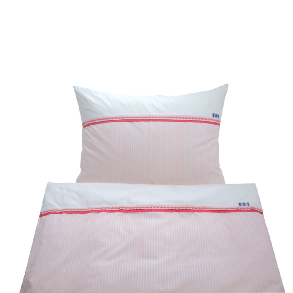 annette frank bettw sche classic midistreifen rosa bei kinder r ume. Black Bedroom Furniture Sets. Home Design Ideas