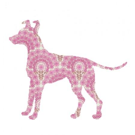 Inke Tapetentier Hund rosa