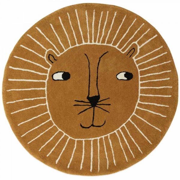 OYOY Teppich rund Löwe