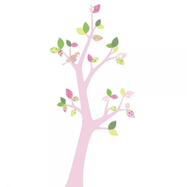 Inke Tapetenbaum 3 Stamm rosa Blätter rosa grün