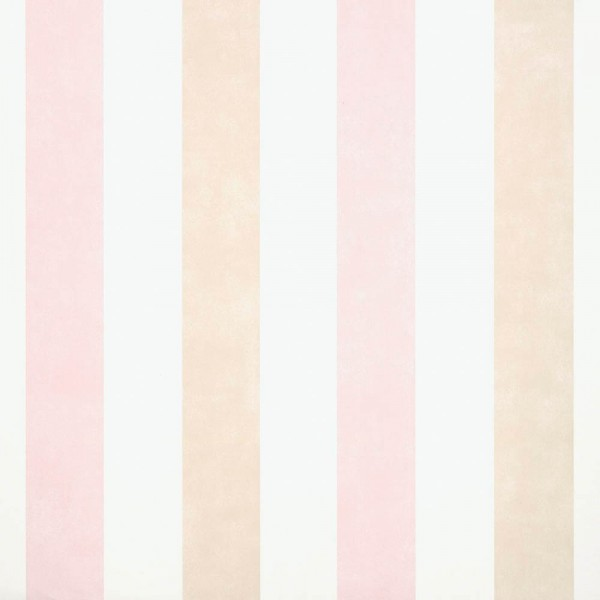 Cosas Minimas Vliestapete Blockstreifen beige rosa weiss