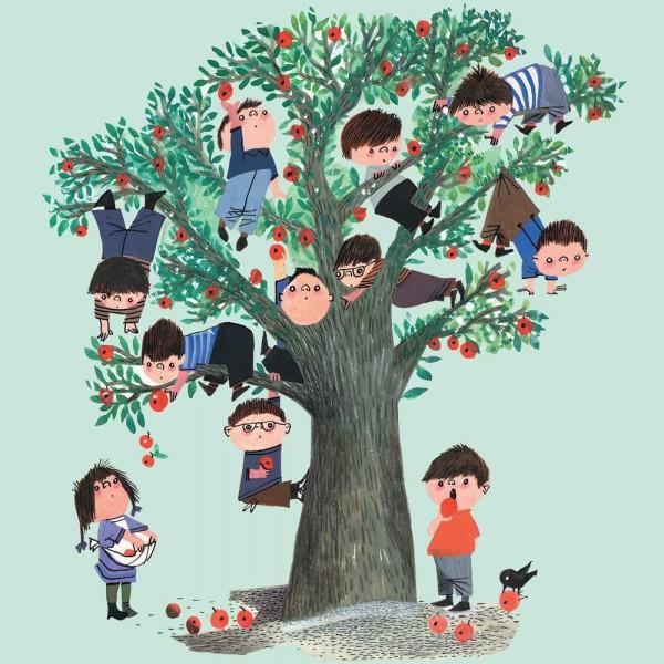 Kek Amsterdam Kinderposter Kinder im Apfelbaum