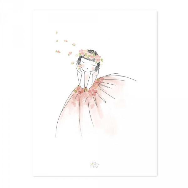 Lilipinso Poster Kleines Mädchen träumt