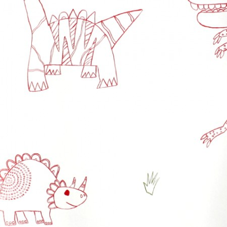 Harlequin Dino Tapete rot