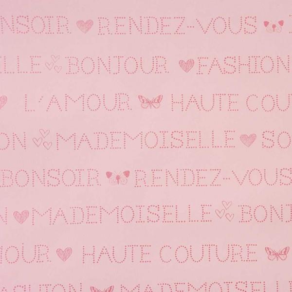 Caselio Girls only Tapete französisch rosa pink