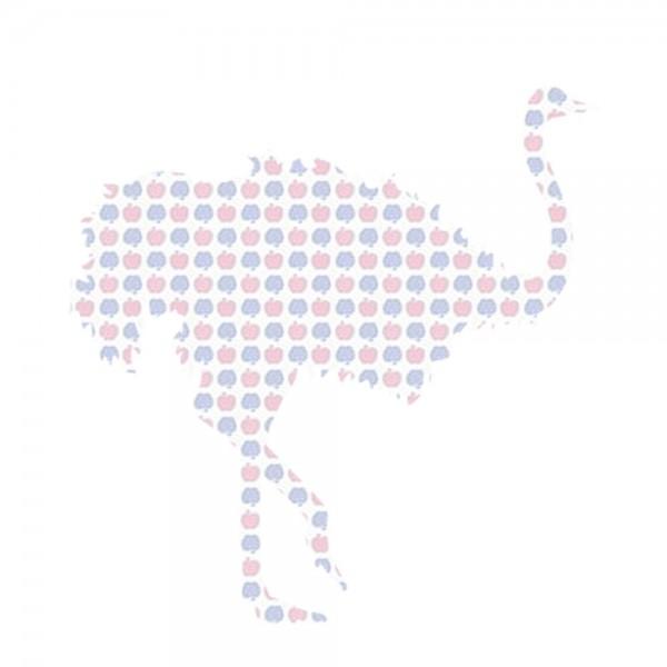Inke Tapetentier Strauss Apfelmuster blau rosa