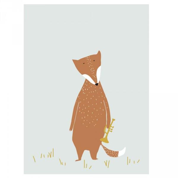 Trixie Kinderposter Fuchs