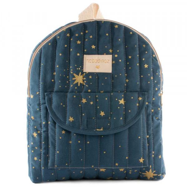 Nobodinoz Rucksack goldene Sterne blau