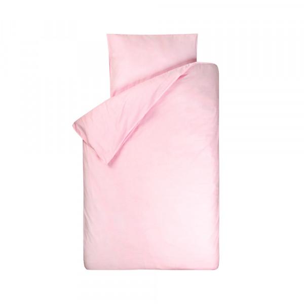 Bink Kinderbettwäsche Bo uni rosa 100 x 135