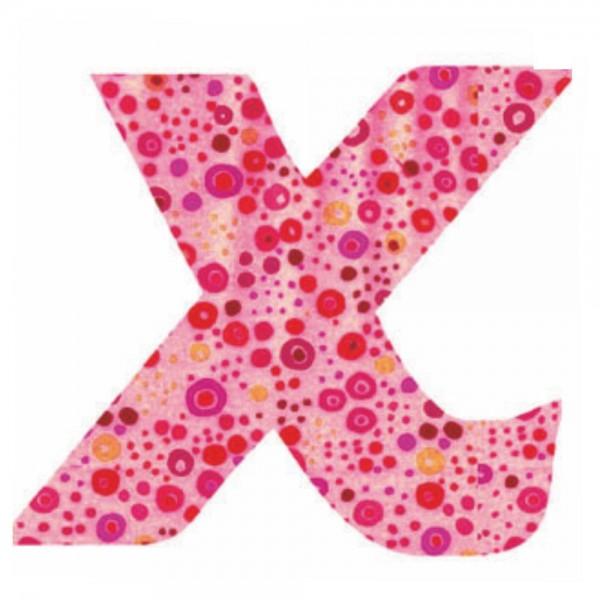 Lilipinso Sticker rosa Buchstabe x