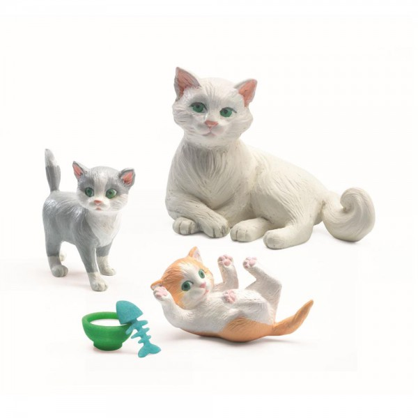 Djeco Zubehör Puppenhaus Katzen