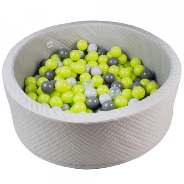Minibe Bällebad grau für draussen incl. 200 Bälle in Wunschfarbe