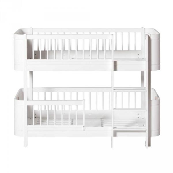 Oliver Furniture Wood Mini+ Umbauset 2 Juniorbetten zu halbhohem Etagenbett weiss