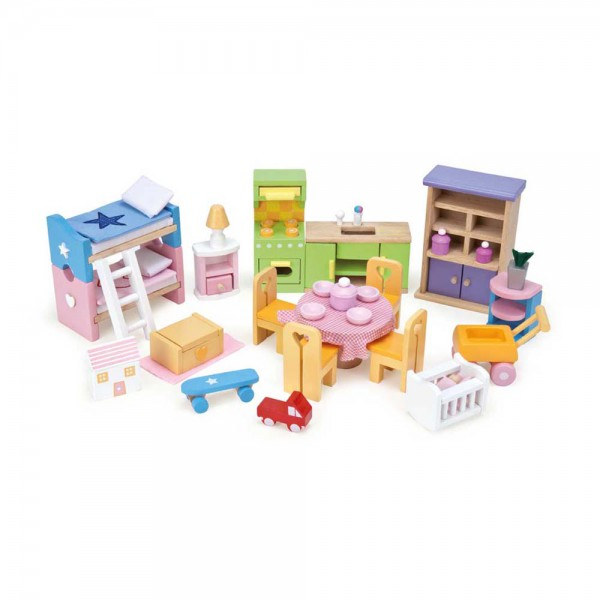 Le Toy Van Puppenhaus Zubehör Starter Möbel Set