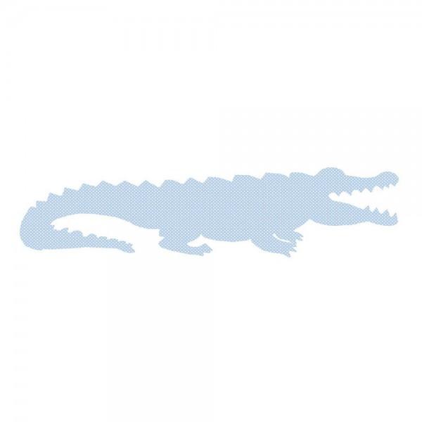 Inke Tapetentier Krokodil hellblau Punkte weiss