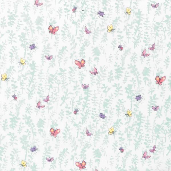 Osborne & Little Voile Schmetterlinge aqua
